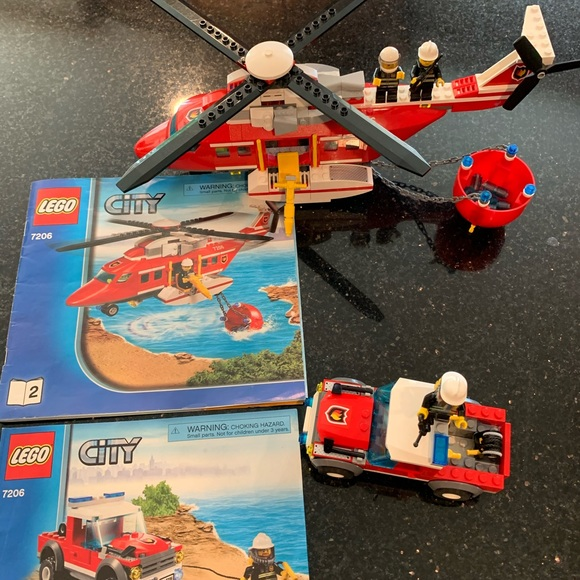 Lego Other - LEGO 7206 Fire Helicopter
